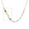 Designer Split Spiral 14K Tri-Color Gold Link Necklace