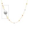 6mm Designer Ball 14K Tri-Color Gold Link Necklace for Women