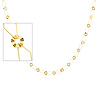8mm Fancy 14K Yellow Gold Link Necklace with Lobster Clasp