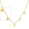 Fancy Dangling Heart 14K Yellow Gold Women�s Link Chain Necklace