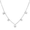 Fancy Dangling Heart 14K White Gold Women�s Link Chain Necklace
