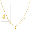 Designer Dangling Teardrop Women's 14K Yellow Gold Link Necklace
