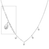 Dangling Teardrop Charm 14K White Gold Link Chain Necklace