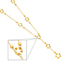 5mm Fancy Circle 14K Yellow Gold Link Chain Y-Necklace for Women