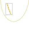 14K Yellow Gold Fancy Designer 1+1 Beads Necklace with Spring-ring Clasp