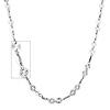 4mm Women's Designer Diamond-Cut Round 14K White Gold Link Necklace