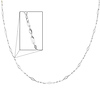 Women's 3mm Fancy Spiral 14K White Gold Link Necklace