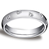 4mm 14K White Gold Eternity Comfort Fit Ring (0.24ctw) (size 6.5)