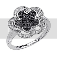 micro pave silver CZ ring