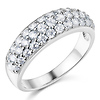 .925 Sterling Silver Round-cut CZ Cubic Zirconia Ladies Wedding Band Ring