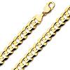 9.5mm Concave Curb Cuban Link Bracelet in 14K Yellow Gold - Men