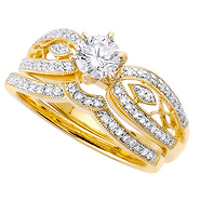 Wedding Ring Set : Image Property of GoldenMine