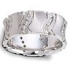 14K White Gold Rising Diamond Wedding Band (0.60 tcw)