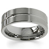 Designer 8mm Ridged Men's Tungsten Band