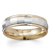 14k Two-Tone Gold Designer Wedding Band