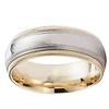 Double Milgrain 14k Two Tone Wedding Ring