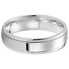 14K White Gold Polished Designer Wedding Band