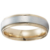 6mm 14k Two Tone Gold Textured Finish Band