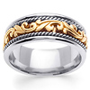 14k Two Tone Gold 9.0mm Art Deco Wedding Band