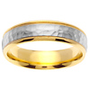 14k Two Tone Gold 6.0mm Wedding Band
