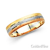 14K Tri-Color 5mm Wedding Band