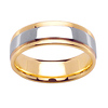 14k 7mm Two Tone Step Band
