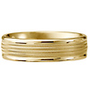 6mm 14k Yellow Gold Milgrain Wedding Ring