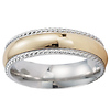 Two Tone 14k Cord Edge High Polish Band