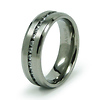 Titanium Channel Set CZ Eternity Band