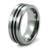 Tungsten Carbide Double Black Stripe Wedding Ring