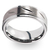 Carved Pattern Tungsten Wedding Band