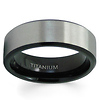Satin Finish Black Titanium Wedding Band