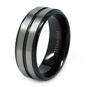 Black Titanium 8mm Wedding Band
