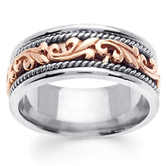two tone gold art deco ring