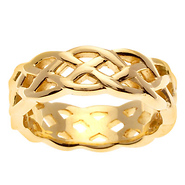 Celtic Weave 14k Yellow Gold Band