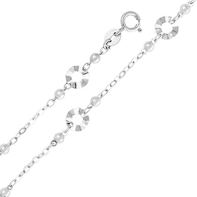White Gold Circle Link Bracelet